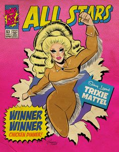 This Artist Turns the All-Star Queens of RuPaul& Drag Race Into Pop Art Superheroes Drag Queens, Vintage Comic Books, Vintage Comics, Kimchi Drag Queen, Valentina Rupaul Drag Race, Rupaul Drag Queen, Queen Drawing, Desenhos Love, Trixie And Katya