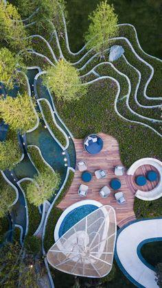 Masterplan Architecture, Water Architecture, Landscape Architecture Drawing, Innovative Architecture, Landscape Concept, Contemporary Landscape, Sustainable Architecture, Landscape Stairs, Landscape Plans