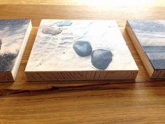 Lavendeldruck auf Holz - ausprobieren