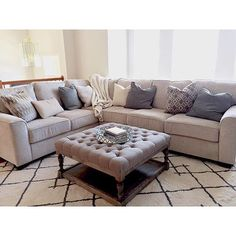 We cannot believe how stunning our Salonne sectional looks in this chic space by @_deegreen_