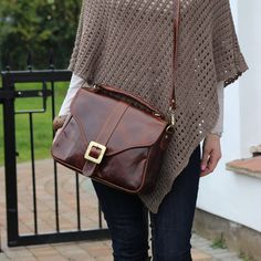 Leather Handbag Purse Satchel in Vintage Brown by TheLeatherStore