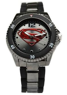 Men's Fashion #Superman Man of Steel #Watch Gun Metal