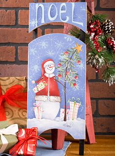 tole painted sleds | NOEL Painting Instruction Packet by Shara Reiner - Tole Painting Book ...