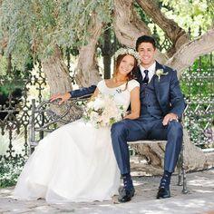 ... Pretty Peach and Navy Wedding