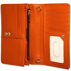 With plenty of organization and stain resistant saffiano cross-grain leather, the Jack Georges Chelsea Collection Continental Wallet in Orange is a must have. Free Monogram, Monogram Initials, Block Fonts, Handmade Wallets, Sale Promotion, Orange Is The New Black, Online Bags, Briefcase, Continental Wallet