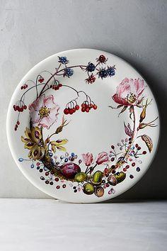 Gien Bouquet Dessert Plate - anthropologie.com