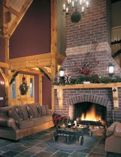 not my dream fireplace - but I love the look of the front door and foyer
