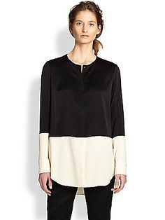 Rag & Bone Shooter Colorblocked Button-Front Shirt