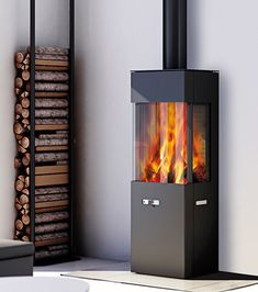 This imposing designer wood burning stove is built from close to 330 kilograms of finely ground soapstone, to create a truly timeless design. Attika Geo [...]
