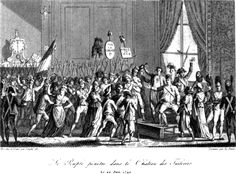 (1792, June 20) The people storming the Tuileries, confronting Louis XVI (Image - 1823)