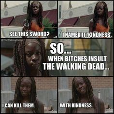 #Michonne #TheWalkingDead cred: The Walking Dead Lives fb page.