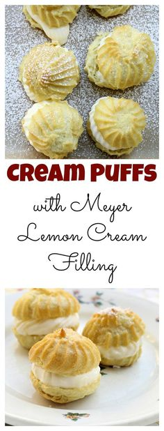 Cream Puffs with Meyer Lemon Cream Filling