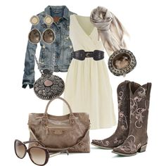 """Vintage Cowgirl......"" by ambiegirl on Polyvore  Now this is a western outfit I could wear"