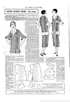 La Mode du jour. 1925/08/13
