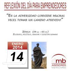 Reflexiones para Emprendedores 14/01/2014 http://es.wikipedia.org/wiki/S%C3%A9neca         #emprendedores #emprendedurismo #entrepreneurship #Frases #Citas #Reflexiones