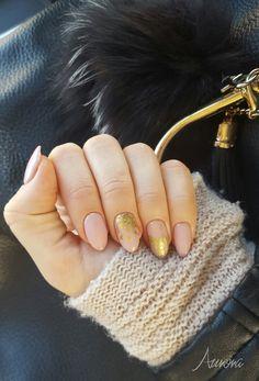 #paznokcie #hybridnails #nailart #manicurehybrydowy #manicure #nails #hybrydowe #brwinów #beauty #glamour #mani #hybryda #hybrydlove #gelpolish #nailstoinspire #nailporn #instanails #nailswag #styling #nailsoftheday #polishgirl #nailstagram #manicurekombinowany #nude #nudenails #jesiennyporanek #misteromilano #folia #gold #zara Manicure, Nails, Make Up, Nail Art, Zara, Beauty, Nail Bar, Finger Nails, Ongles