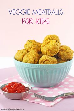 Packed full of protein, these Veggie Meatballs make a super healthy meal for kids. They're great finger food for baby led weaning too!   My Fussy Eater blog