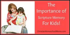 Importance Of Scripture Memory For Kids!