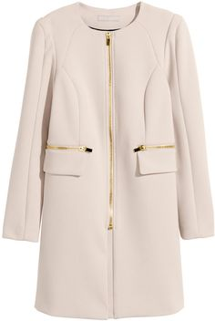 H&M - Short Coat - Light beige - Ladies