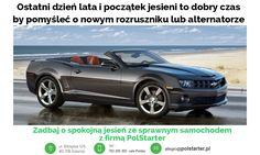 🔲 Ostatni dzień lata już dzisiaj a jutro początek kalendarzowej jesieni. Jest to dobry czas by pomyśleć o nowym rozruszniku lub alternatorze 🔧🔩  🔲 Zadbaj o spokojną jesień ze sprawnym samochodem z firmą #PolStarter 🚗😁💪  ✔ Odwiedź także naszą stronę internetową i sklep internetowy: ➜ www.polstarter.pl ➜ www.sklep.polstarter.pl  🔲 KONTAKT: 📲 792 205 305 ✉ allegro@polstarter.pl  #rozrusznik #alternator #rozruszniki #alternatory #samochód #samochody #motoryzacja #części #samochodowe…