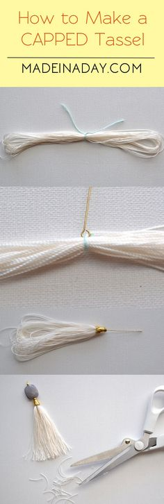 How to Make Capped Tassels