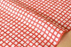 Japanese Fabric Seersucker Linen Lawn  Gingham от MissMatatabi