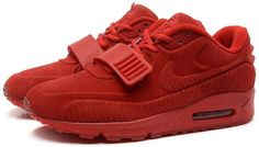 new products d16fc f2f8c 2015 Newest Nike Air Yeezy II 2 Sp Max 90 The Devil Series Trainers All Red  West Mens Shoes Online Sale