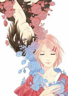 My favorit couple #sasusaku#naruto#narutoshippuden#narutohiden#romantic#cute#awesome#flowers#bea#beautiful#handsome#uchihasasuke#harunosakura#couple#sweet