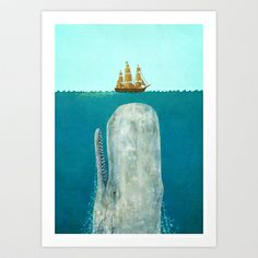 The Whale  Art Print by Terry Fan - $18.00