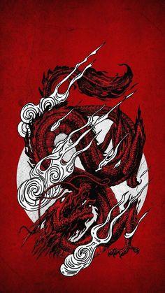 Tokyo Japan Dragon Wallpaper Discover more Aesthetic Japan Dragon, Dragon, Dragon Tattoo, J… in 2021 | Dragon wallpaper iphone, Japanese wallpaper iphone, Samurai wallpaper