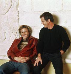 Mel Gibson e Heath Ledger promovendo o filme O Patriota! Beleza sem medidas!