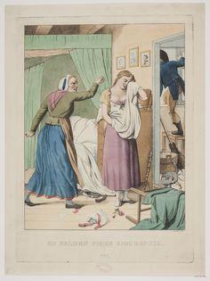 'En falden piges biografi, nr 1' ('Biography of a fallengirl, nr 1'), after an original by C.W. Eckersberg 1808; Danish, 1811. Statens Museum for Kunst, nr. KKS16310