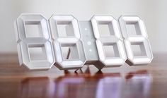 White & White DigitalClock