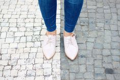 Pink mocassins outfit | Style Check