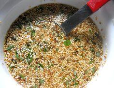 Receta: Aderezo de semillas de girasol y sésamo ( ajonjolí )