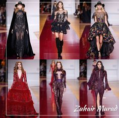 """Meus desfiles preferidos da Alta Costura de outono-inverno 2016/17: ZUHAIR MURAD - estilo foi meio hippie chic, com chapéus e bota over the knee. No backstage, ele descreveu sua mulher como """"nova, moderna e rock, mas elegante ao mesmo tempo"""" e complementa dizendo que """"ela também é rica, com vestidos cheio de joias, transparências e ornamentos""""."""