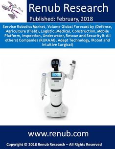 """Global Service Robotics Market is expected to surpass US$ 60 Billion by the end of 2024. Renub Research study titled """"Service Robotics Market, Volume Global Forecast by (Defense, Agriculture (Field), Logistic, Medical, Construction, Mobile Platform, Inspection, Underwater, Rescue and Security & All others) Companies"""" analyzes the Global service robotics market. This 84 page report with 54 Figures and 6 Tables analyses the global service robotics market and volume by segments."""