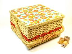 Singer Sewing Basket by ChestnutStSmallHouse on Etsy, $22.00