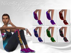 Created By wjewerica Nike Style Runners by LollaLeeloo Created for: The Sims 4 I…
