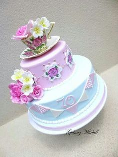 Blue and lilac cake