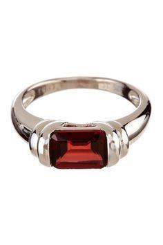 Emerald Cut Garnet Ring  by Savvy Cie on @HauteLook