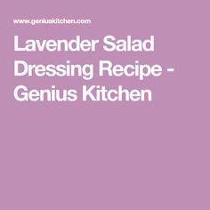 Lavender Salad Dressing Recipe - Genius Kitchen