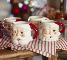 Vintage Santa Mugs.  We had these mugs when I was a child.  What a delightful blast from the past!