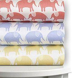 Magnolia Organics Printed Crib Sheet, 300 Thread Count - Standard, Sky