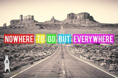 Wanderlust Print, Travel Quote Print, Travel Art, Nowhere To Go But Everywhere, Inspirational Quote, Utah Art, Utah Landscape, Travel Gift by Bear8Photo on Etsy