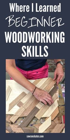 11 Places to Take Beginner Woodworking Classes (Online + Locally), Diy And Crafts, I wanted to learn how to make DIY furniture, but I didn't know where to start. Then I found this article. It's filled with ideas for places to take . Beginner Woodworking Projects, Woodworking Classes, Woodworking Furniture, Fine Woodworking, Woodworking Crafts, Wood Furniture, Woodworking Techniques, Woodworking Accessories, Woodworking Basics