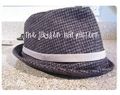 Sewing pattern  -Fedora -  The Jayden Hat. $6.00, via Etsy.