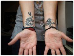 http://www.nichilditch-short.co.uk/2012/12/tattoos.html  #tattoo #wrist #travel #johnlennon #imagine #rammstein