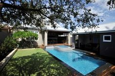 Stunning resort style pool at the rear of the home extension and renovation to a character home in Perth.  #homerenovation #pool #alfresco
