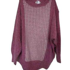 This cozy houndstooth printed knitwear can be styled under a cardigan or by itself on cooler days.- Lightweight- Tight knitting- Over-sized- Silk, R Trippy, Houndstooth, Knitwear, Tights, Men Sweater, Pullover, Boutique, Silk, Knitting
